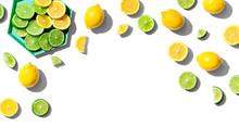 Fresh Lemons And Limes Overhea...