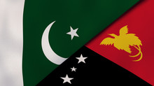 The Flags Of Pakistan And Papu...
