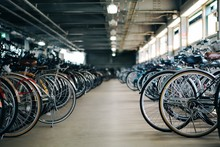 Interior Of Bicycle Parking Lot