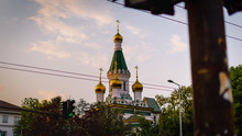 Low Angle View Of Russian Orthodox Church Against Sky During Sunset