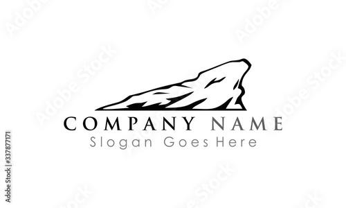 rock cliff logo vector - fototapety na wymiar