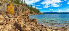 Rocky Shoreline On Lake Coeur ...