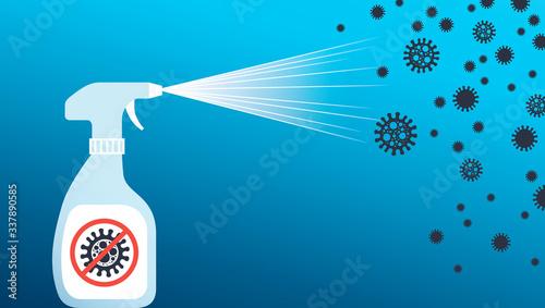 Antibacterial spray for covid-19 coronavirus Wallpaper Mural