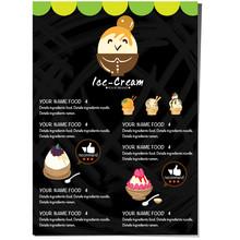 Menu Template Ice Cream Desser...