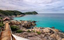 Scenic View Of Sea Against Clo...