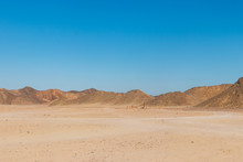 View Of Arabian Desert And Mou...