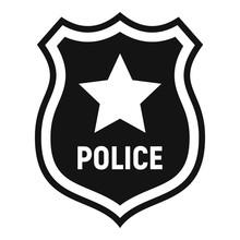 Police Badge Icon. Simple Illu...