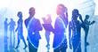 International business team in city, globalization