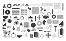 Black Geometric Shapes Set. Vi...
