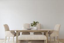 Modern Dining Room. 3d Render.
