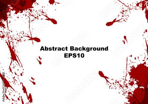 Fototapeta abstract vector splatter red color on white color design background