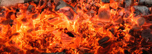 Burning Coals Textured Backgro...