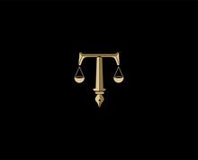 Letter T The Legal Logo, The C...