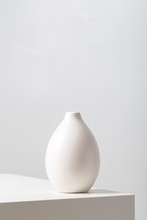 Vertical Closeup Of A White Cl...
