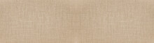 Brown Beige Natural Cotton Linen Textile Texture Background Banner Panorama