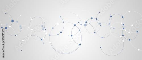 Technology data background, idea of global business solution Billede på lærred