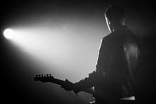 Rock Guitarist Man In Leather ...