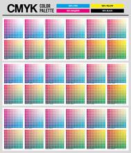 Colour Palette To CMYK. Proces...