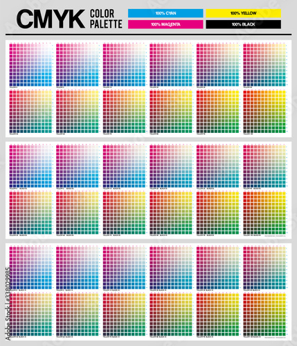 Fotografija Colour palette to CMYK