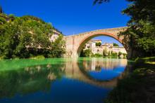 Arch Bridge Over River Against...