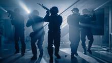 Masked Team Of Armed SWAT Poli...