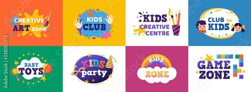 Tablou Canvas Kids club banner