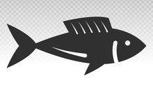 Fish Or Seafood Flat Icon On A...