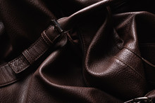 Brown Leather Material Texture...