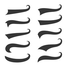 Sporty Swirling Tail Typography Swashes Collection