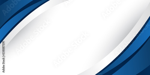 Blue white grey silver background for presentation design, banner, brocure, and Fototapeta