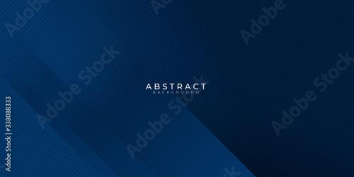 Fotografia, Obraz Modern blue navy line triangle background for presentation