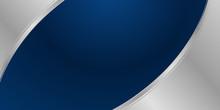 Navy Blue Silver Curve Shape Background For Presentation Background