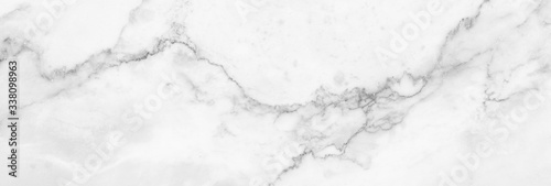 Vászonkép Marble granite white panorama background wall surface black pattern graphic abstract light elegant black for do floor ceramic counter texture stone slab smooth tile gray silver natural