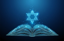 Abstract Open Torah Book With ...