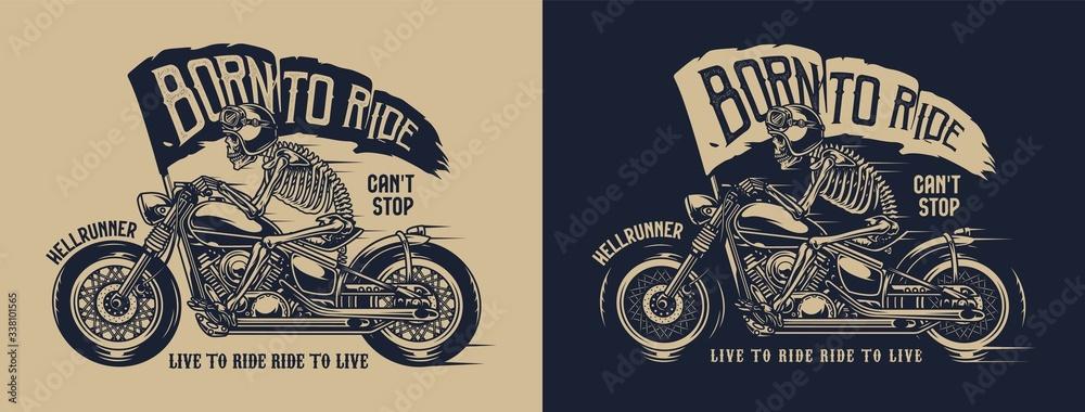 Fototapeta Vintage motorcycle label