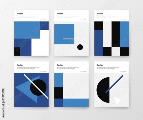 Bauhaus Design Poster Mockup Collection Canvas Print