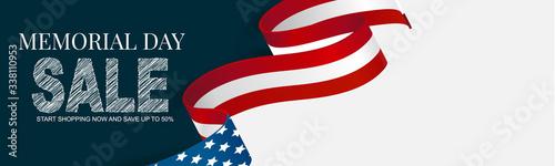 Foto Memorial Day banner, website or newsletter header