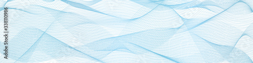 Fotografía abstract blue wave lines on white background