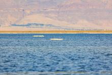 Big Salt Lumps Against The Jordanian Shore