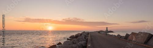 Fotografie, Obraz Pier Over Sea Against Sky During Sunset