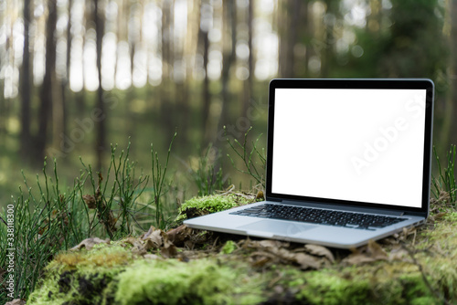 Laptop outside concept Canvas-taulu
