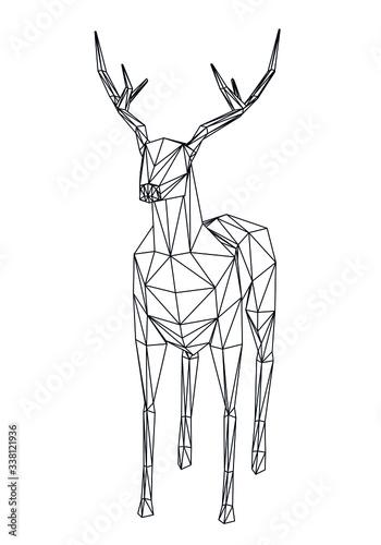 ilustracja-jelenia-w-wielokatne-linie