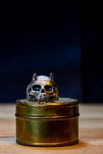 Close-up Of An Antique Skull R...