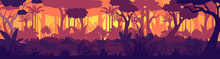 Vector Tropical Jungle Sunset ...