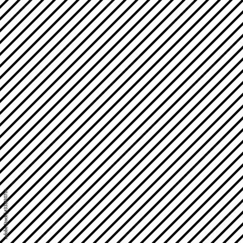 Fototapeta Diagonal lines pattern. Black and white stripes texture background. Design element oblique lines. obraz