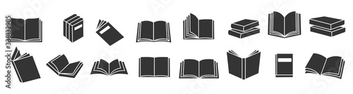 Obraz na plátně Book icons set, logo isolated on white background, vector illustration