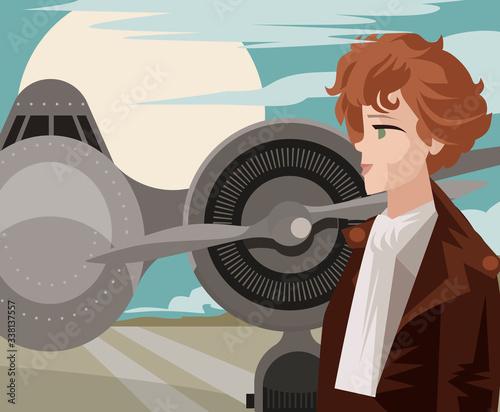 amelia earhart first female aviator Canvas Print
