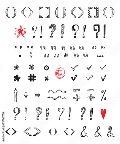 Obraz na plátne Punctuation marks Vector Set