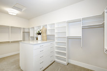 Huge Walk-in Closet With Shelv...