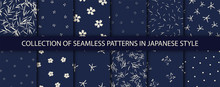Set Of 12 Patterns In Japanese...